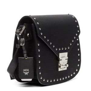 NWOT MCM PATRICIA SMALL STUDDED LEATHER CROSSBODY